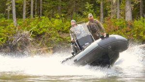 inflatable boat hunting